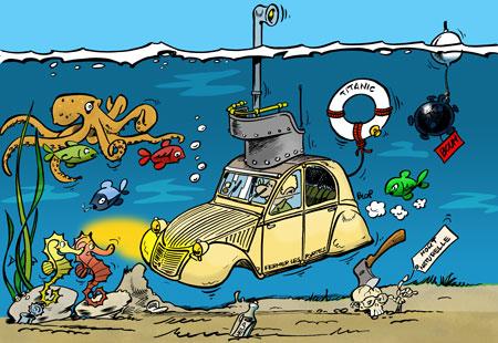 Michel loiseau dessin d 39 humour photo pao cr ation de sites - Dessin 2cv humour ...