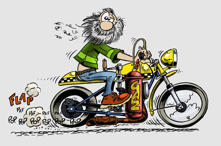 Michel loiseau dessin d 39 humour photo pao cr ation de sites - Dessin humoristique motard ...