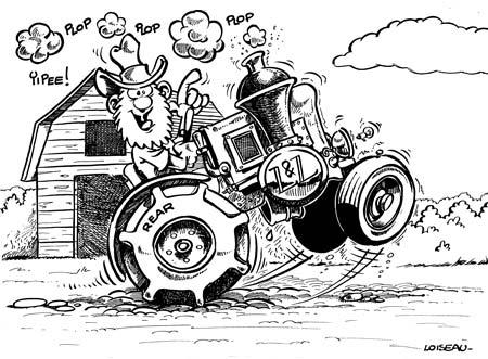 Michel loiseau dessin d 39 humour photo pao cr ation de sites - Dessin d un tracteur ...